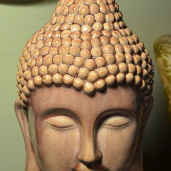 Large Buddha Head from Goodwill - Art Pottery