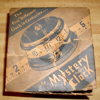 Brand New Large Lux 1935 Mystery Rotary Annular Clock and Original Box - Art Deco