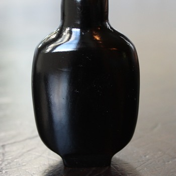 Plain Black Lacquer Snuff Bottle - Asian
