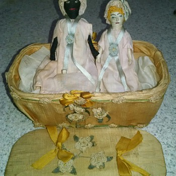 Antique Rolled Fabric Dolls - Dolls