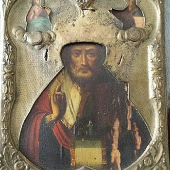 Posting This For A Canadian Friend - Mystery Painting St. Nicholas Icon - Visual Art