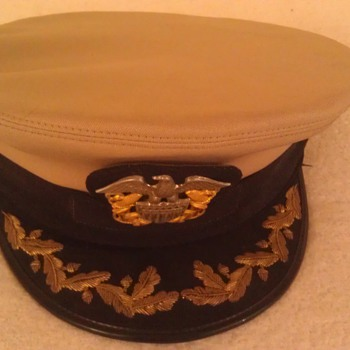 Vintage Naval Officers Hat - Military and Wartime