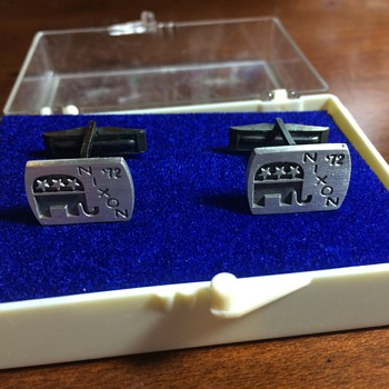 The most I have EVER spent on eBay Cufflinks: Nixon in '72 FOR THE WIN!
