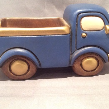Ceramic car/ pick up - Art Pottery