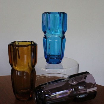 Trio of Rudolfova Hut Vases by Vizner - Art Glass