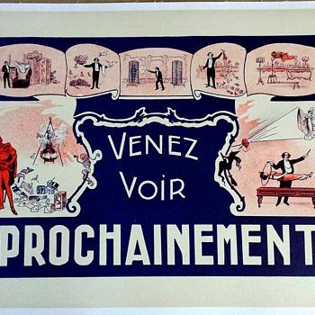 "Original ""Venez Voir Prochainement"" Magic Poster"