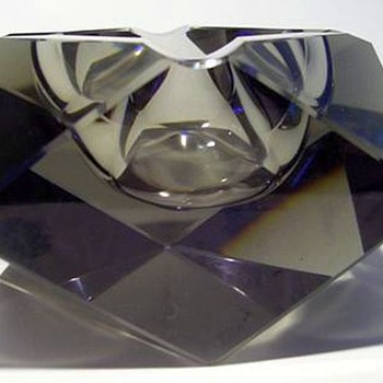 Geometric Art Glass Ashtray