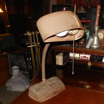 Vintange Gooseneck Desk Lamp Circa 1930s