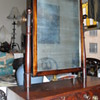 An late 19th century mahogany toilet mirror