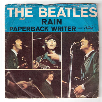 Beatles 45 - Paperback Writer/Rain - Fair Condition - Records