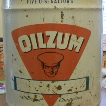 OILZUM 5GALLON CAN - Petroliana
