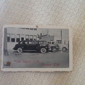 De Luxe Cab business card--3 digit phone number