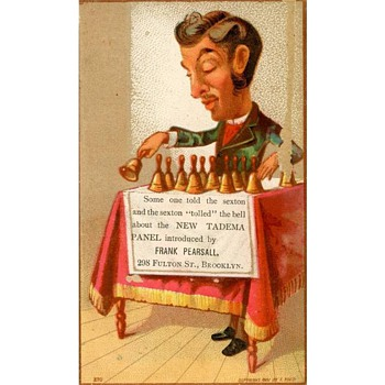 Three 1881 Trade Cards for Frank Pearsall, Brooklyn Photographer