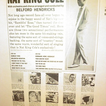 NAT KING COLE - Records