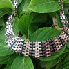 Jakob Bengel Brickwork Chrome Necklace