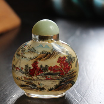 Reverse Painted Snuff Bottle - Asian