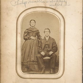 Old photo album 1860's ? Family Photo's  - Womens Clothing