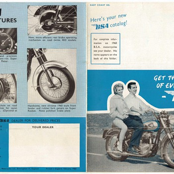 1960 B.S.A. Motorcycles Advertisement Pamphlet - Motorcycles