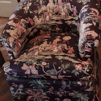 "Chair With ""Heirloom"" Designer Upholstery North Carolina"