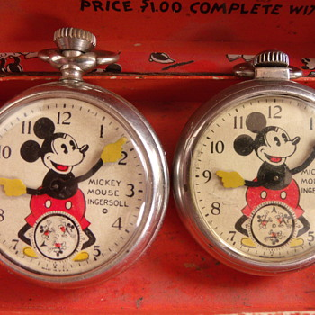 Second Issue Style Mickey Mouse Pocket Watches - Pocket Watches