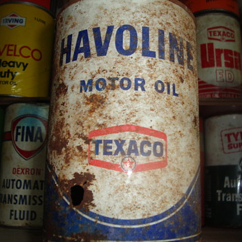 and some more oil cans  - Petroliana