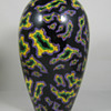 Funky Czech Art Deco era Hand Painted Pottery Vase Paisley Decor