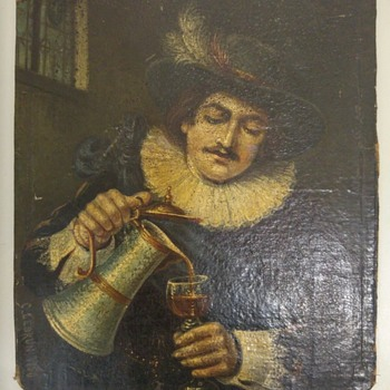 """Self portrait of nobleman drinking wine"" - C. Lebrun 1756"