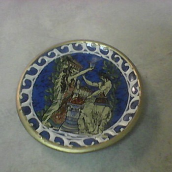 GREEK PLATE - Art Pottery