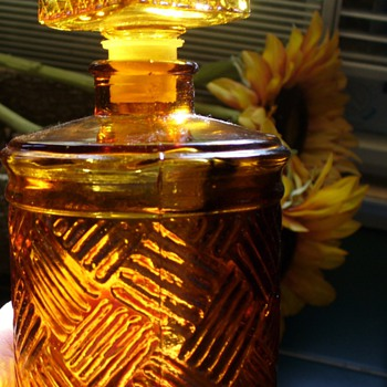 Amber Glass Jar - Glassware