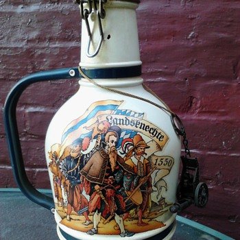 German 200cl  Hand painted beer bottle - Bottles