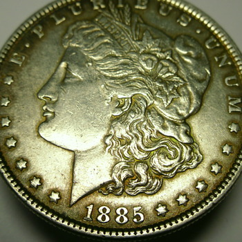 1885 morgan dollar  no mint mark - US Coins