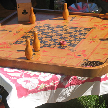 Gatsby Summer Afternoon - vintage Carrom tabletop game - Art Deco