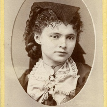 Vignette Portrait of a Cute Young Girl by Frank Pearsall, c.1870-71