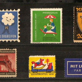 1949-1959 - W. Germany - Non-Postal Charity Stamps - Stamps