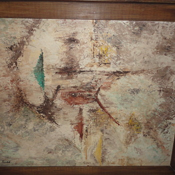 Abstract Nautical Scene signed Tiller - Visual Art