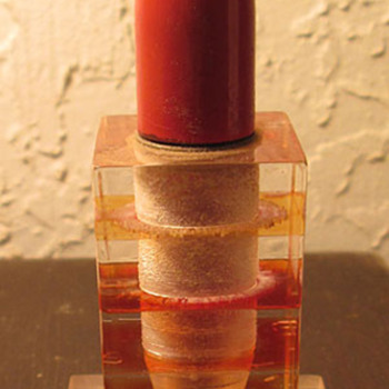 Art Deco Lucite bullet lighter - Tobacciana
