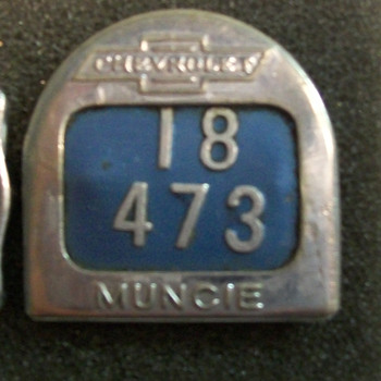 Chevrolet items from Muncie Indiana and Flint Mich. - Medals Pins and Badges