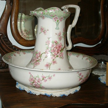 Water Pitcher and Basin - China and Dinnerware