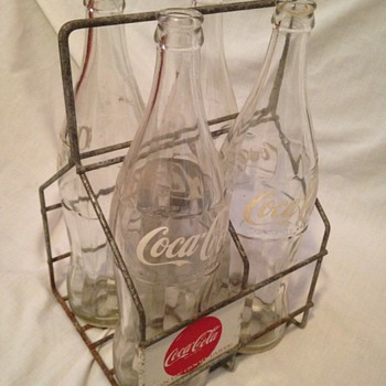 1ltr. Coke Bottle 4-pack Wire Carrier - Coca-Cola