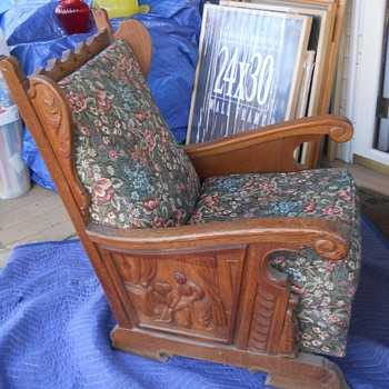 Rare Handcarved Bishop Chairs Please Help - Furniture
