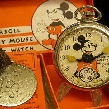 Mid 30's 'Short Stem' Mickey Mouse Pocket Watch - Pocket Watches