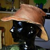 Leather Wide Brimmed Hat