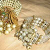 1950&#039;s bead memory cuff bracelets