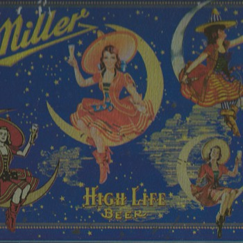 Miller High Life Beer Moon Girls - Breweriana