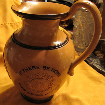 DOULTON MOTTO JUG  - Art Pottery