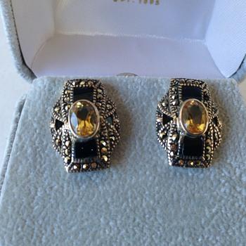 Art Deco Sterling Earrings