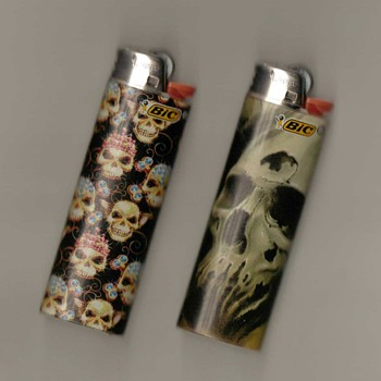 "BIC Lighters - ""Death-heads"""