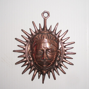 Vintage Metal Iron Man Head Face Wall Hanging