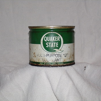 Quaker State Grease Can - Petroliana