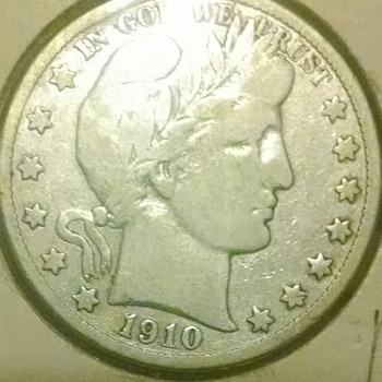 1910-s batber half dollar . VF